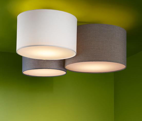 Stropné svietidlo s textilným tienidlom, 3-dielne