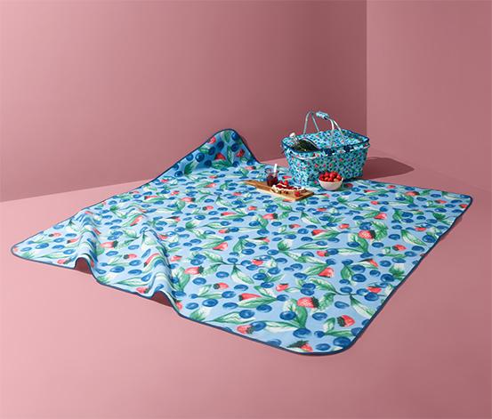 Kolorowy koc piknikowy XL, 180 x 180 cm