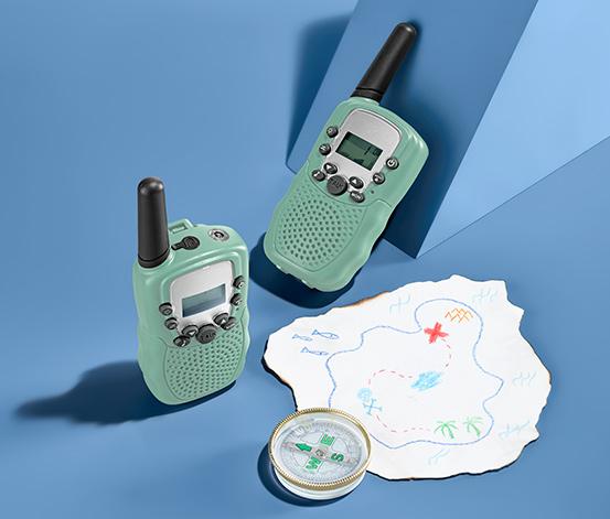 2 walkie-talkie gyerekeknek szettben, zöld