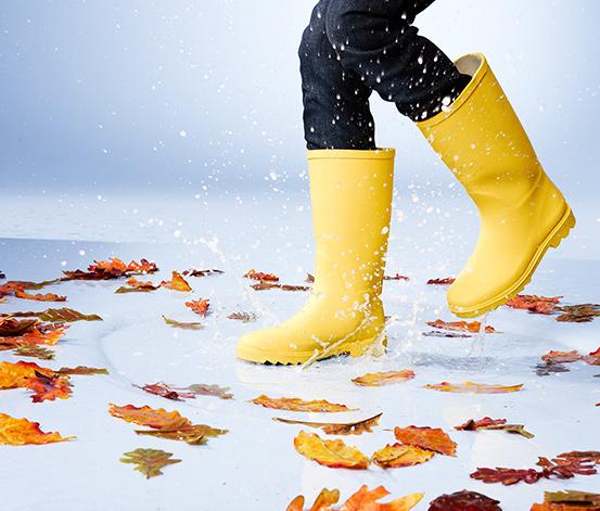 Dětské holínky do deště, žluté