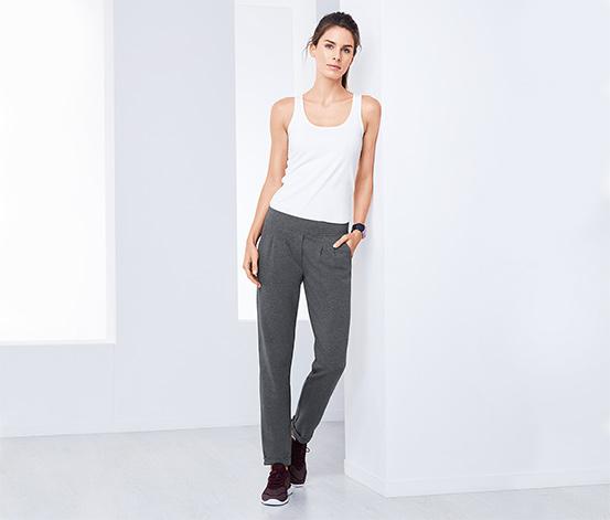 Kırçıllı Gri Chino Sweat Pantolon