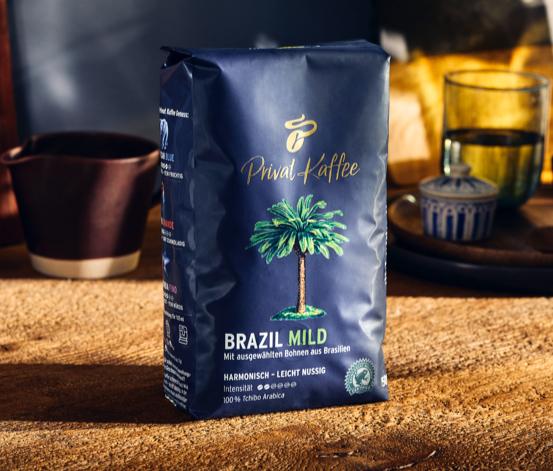Privat Kaffee Brazil Mild en grains