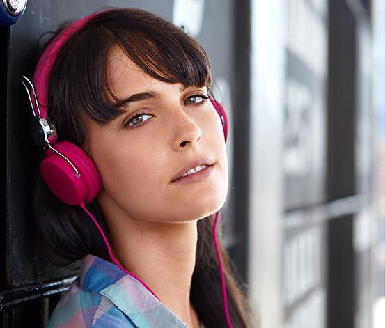 Sztereó fejhallgató, pink