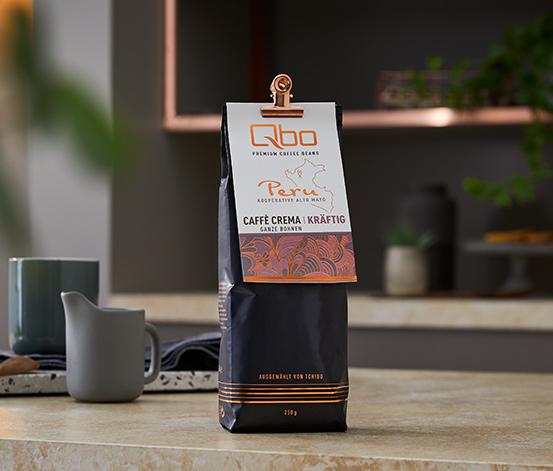 Qbo Premium Coffee Beans »Kooperative Alto Mayo« Caffè Crema Kräftig, Ganze Bohne