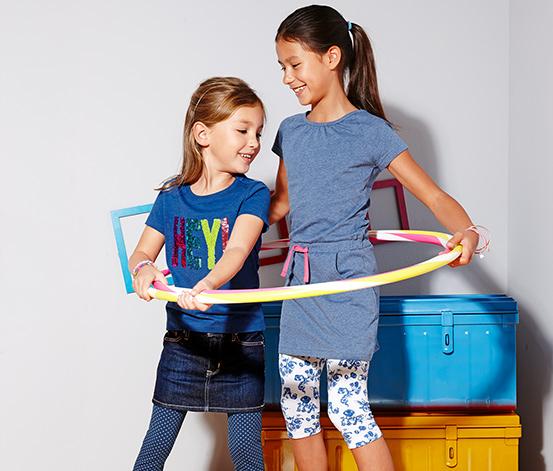 2 lányka leggings szettben, kék