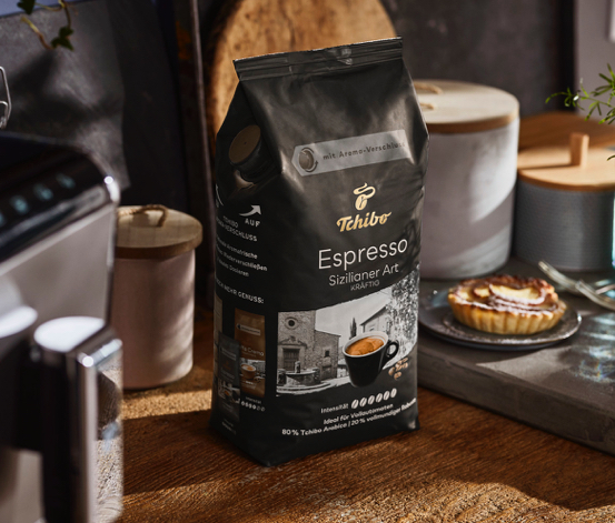 Espresso Sizilianer Art - 1 kg Ganze Bohne