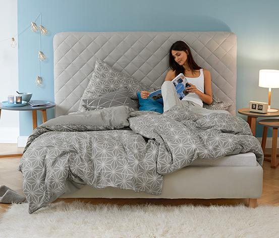 Parure de lit réversible en tissu renforcé, taille normale
