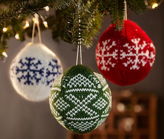 3 suspensions de Noël «Boules»
