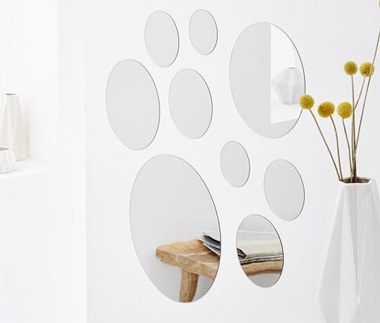 Zrkadlové nálepky, 9 ks