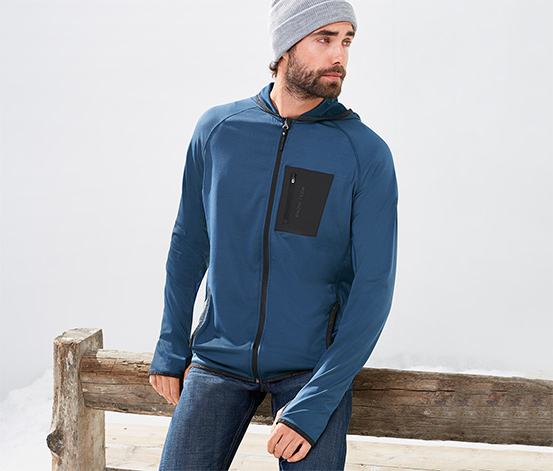 Termal Spor Ceket, Mavi