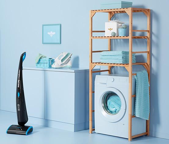 Massivholz-Waschmaschinenregal