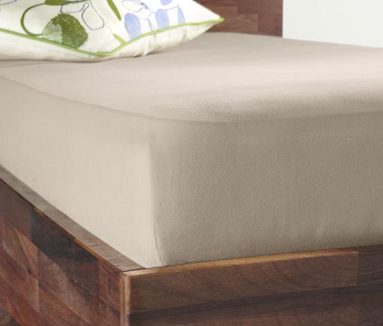 Žerzejové napínací prostěradlo, na matrace o rozměrech cca od 90 x 190 do 100 x 200 cm, béžové