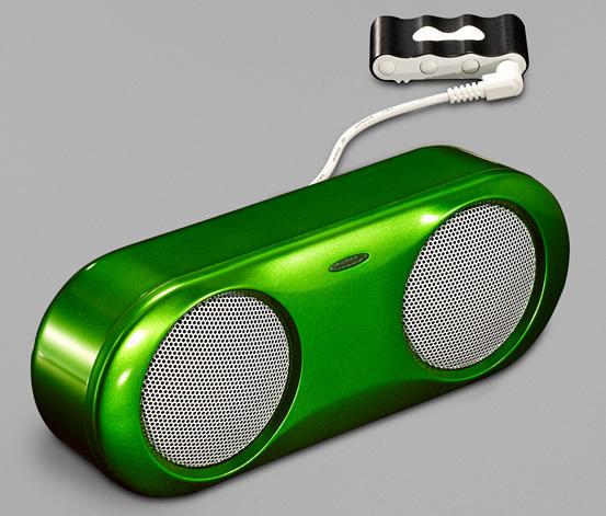 Portabler Lautsprecher, Grün