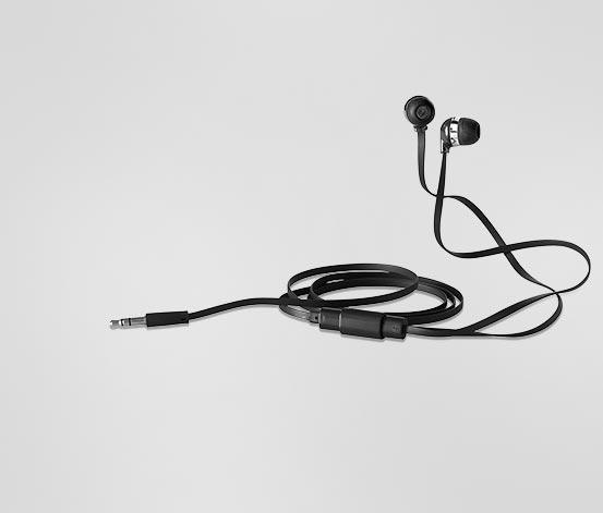 Słuchawki stereo, czarne