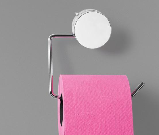 Designový držák na toaletní papír s přísavkou