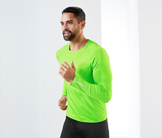 Uzun Kollu Fonksiyonel Tişört, Neon Yeşil