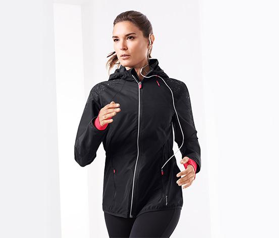 Női szélálló futódzseki, fényvisszaverő