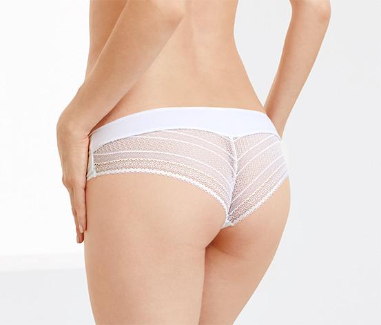 2 brazil női alsó csipkével szettben, fehér