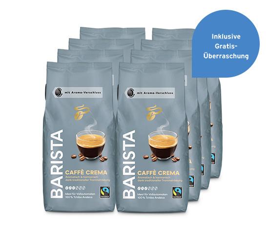 BARISTA Caffè Crema – 8 x 1 kg Ganze Bohne