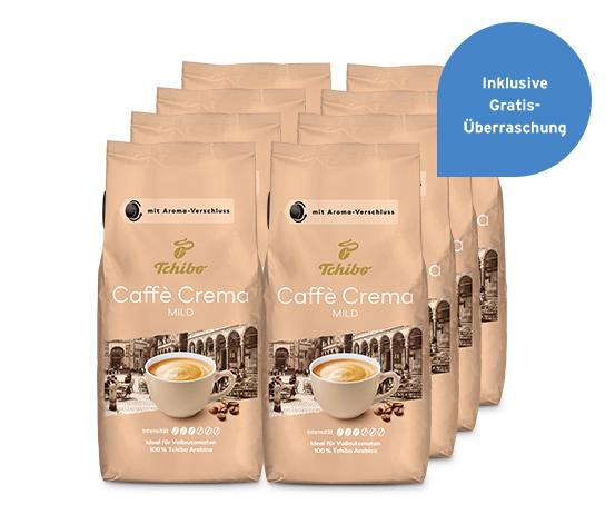 Caffè Crema Mild – 8 x 1 kg Ganze Bohne
