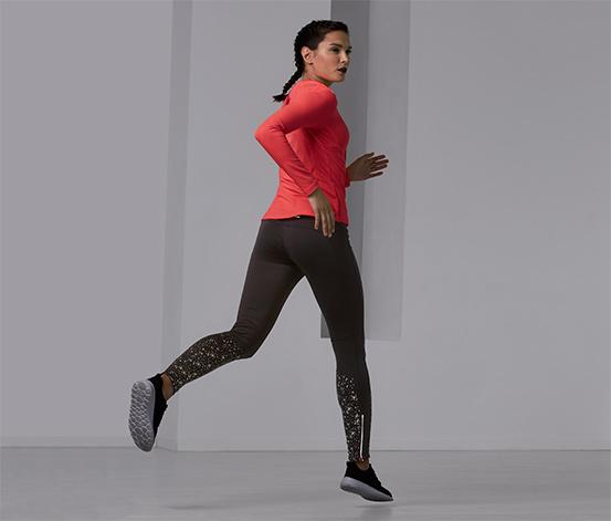 Női termo futónadrág, fényvisszaverő