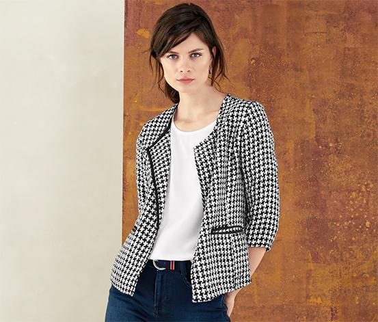 Női jacquard kabát, mintás