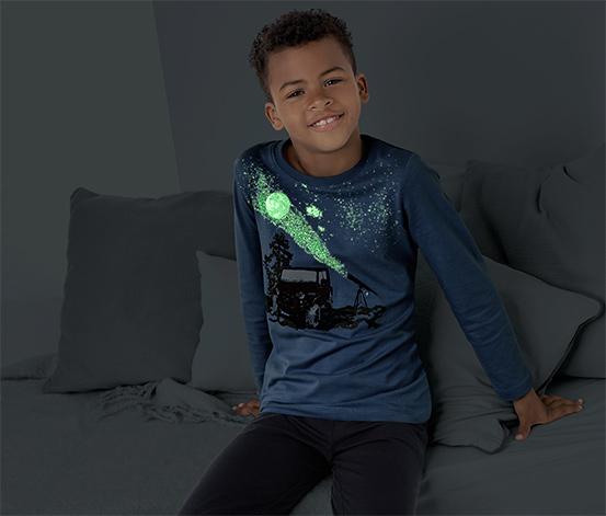 Fiú sötétben világító pizsama