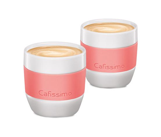 Caffè crema-koppar Cafissimo »pastel edition« korallfärgade