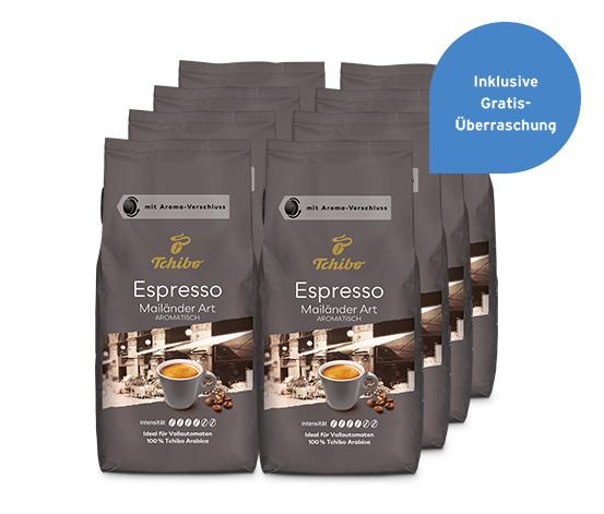 Espresso Mailänder Art – 8 x 1 kg Ganze Bohne