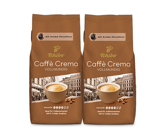 Caffè Crema Vollmundig - 2 x 1kg Ganze Bohne