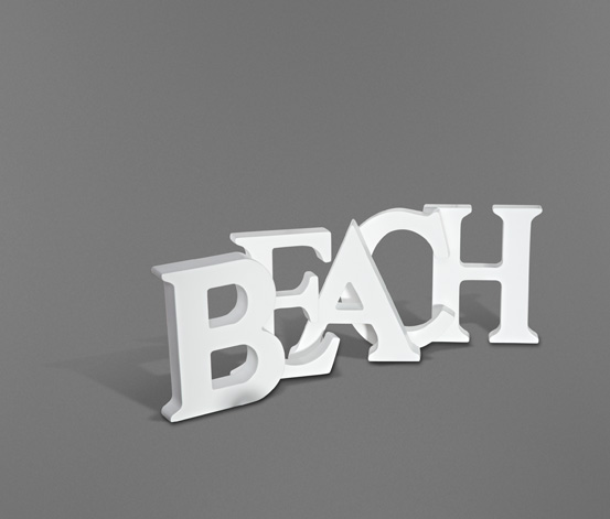 Dekorační písmena, sada Beach