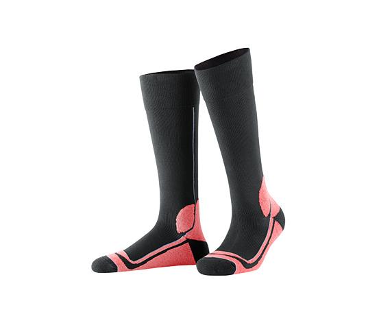 Destekleyici Spor Çorap, Antrasit-Pembe