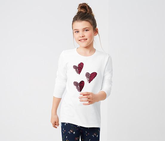 Koszulka z długim rękawem ozdobiona dwustronnymi cekinami
