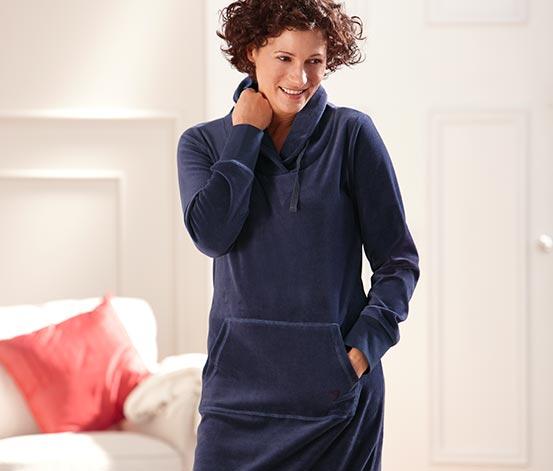 Domácí šaty z plyšové pleteniny