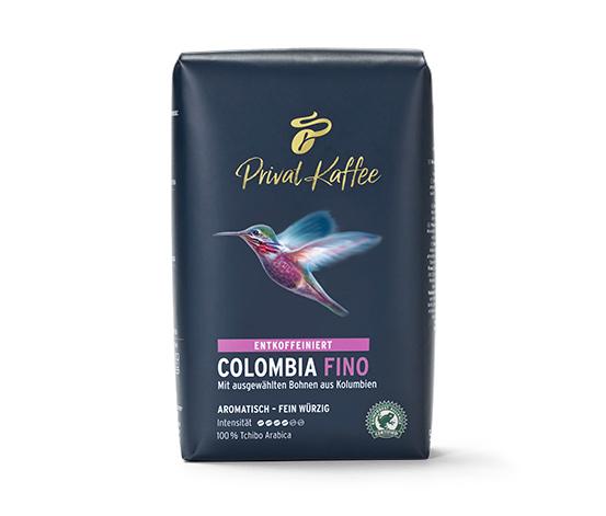 Privat Kaffee Colombia Fino (entkoffeiniert) - 500 g Ganze Bohne
