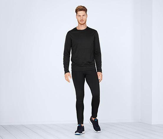Uzun Kollu Fonksiyonel Tişört, Siyah