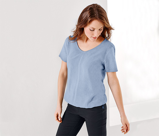 Blúzkové tričko s tkaným dielom