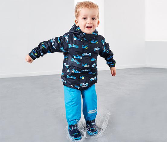 Gyerek termo esőkabát, kék mintás