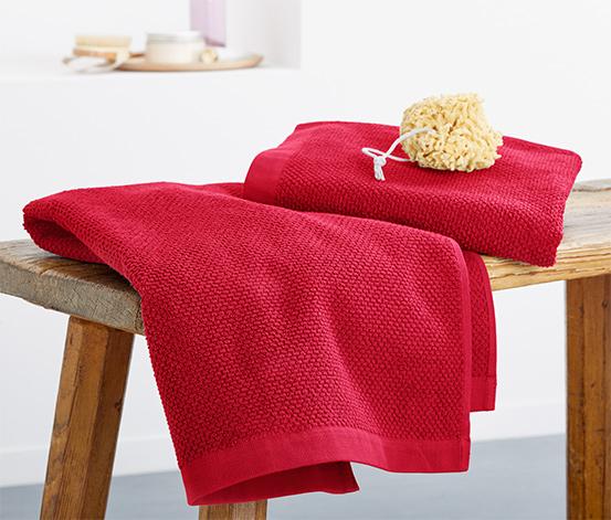 2 serviettes en tissu éponge