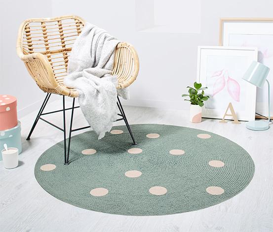 runder teppich 110 cm sterne