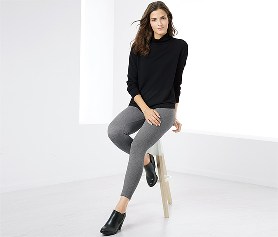 Siyah Beyaz Tayt Pantolon