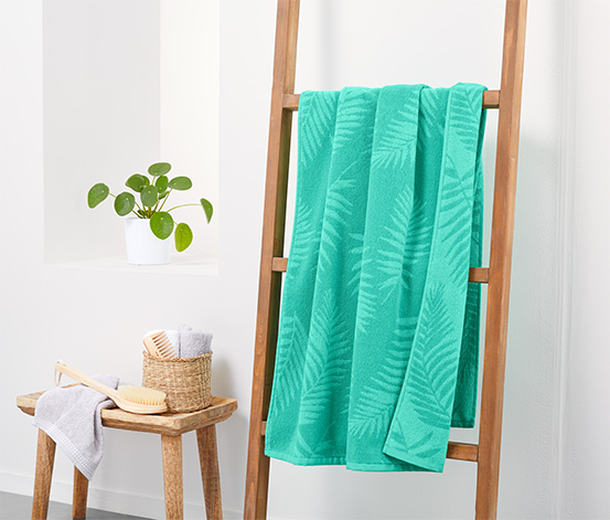Serviette de bain en tissu éponge