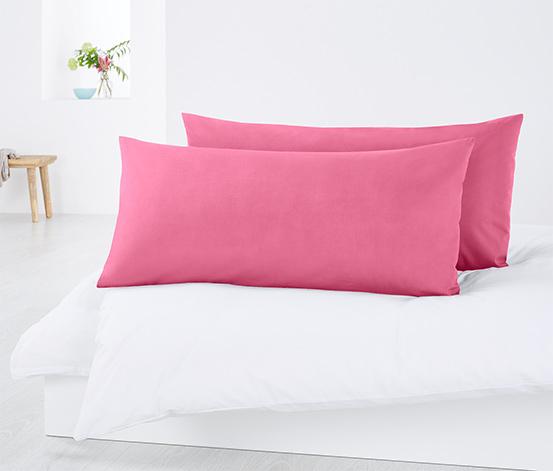 Poszewki na poduszki z perkalu, 2 sztuki, ok. 80 x 40 cm