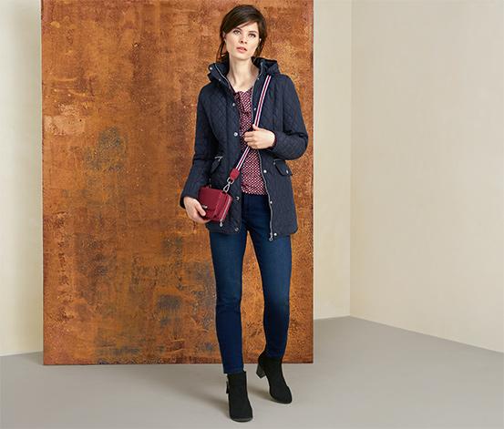 Manteau court avec surpiqûres en losanges