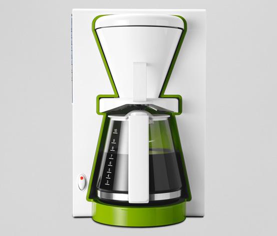 Kaffeemaschine, Grün