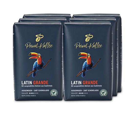 Privat Kaffee Latin Grande - 6 x 500 g Ganze Bohne