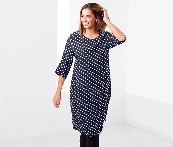 Elbise, Beyaz Puantiyeli Mavi