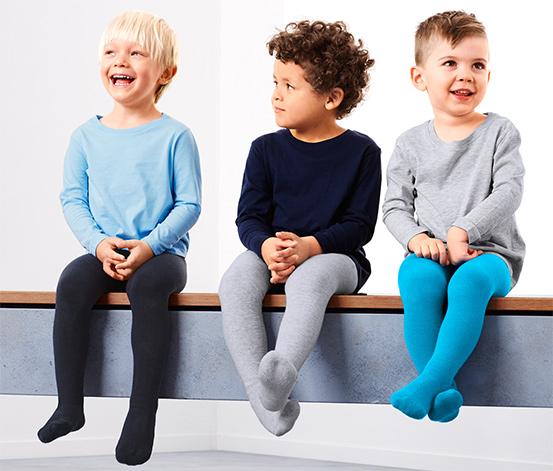 3 pár gyerek harisnyanadrág szettben, kék