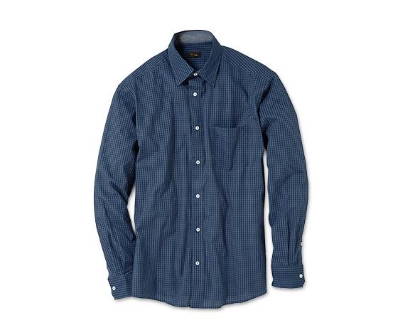 Casual-Hemd, blau