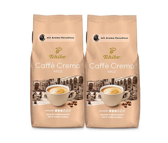 Caffè Crema Mild - 2 x 1kg Ganze Bohne